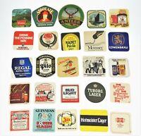 25 Vtg Coasters Beer Mats Ale Coors '82 Lowenbrau Harp Bud Miller Jax Guinness