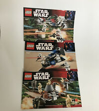 BOOK ONLY LEGO Star Wars 7654 7667 7655 Instruction Manual Manuals Lot Of 3