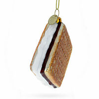 Cookie or Biscuit with Chocolate Glass Christmas Ornament