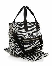 Marc Jacobs Zebra Print Biker Baby Bag Diaper Shoulder Bag Travel Tote Beach Bag