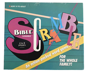 Bible Scramble Board Christian Catholic Game First Edition Vintage Religious