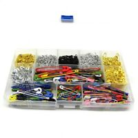 500 Pieces Metal Pins,7 Sizes Assorted Colored Durable Metal Pins 19Mm - 54 J5G5