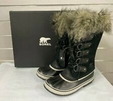 SOREL Joan of Arctic Womens Winter Boots Black / Quarry Waterproof -25 Rated NEW