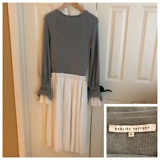 English Factory Women S Dress Knit Top Pleated Skirt Nordstrom Midi Boho Bell LA