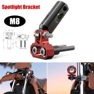 1×8MM M8 Motorcycle Modified Bracket Fog Light Spotlight Support Extension Pole