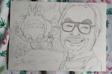 hand drawing Miyazaki Hayao autographed sketch Tonari no Totoro A4 112019