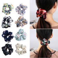 Accessories Ring Elastic Hair Rope Scrunchie Ponytail Holder Print Hair Band