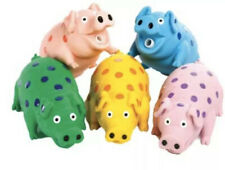 "2-Pack-Multipet, Polka Dot Pig, 4"" ea. Dog Toys, assorted colors-Free Shipping!"
