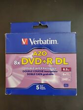 Verbatim AZO DVD+R DL 8.5GB 8x Branded Double Layer Recordable 5 Discs