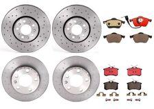 Front Rear Brembo Full Brake Kit Disc Rotors Drilled Ceramic Pads For Golf Jetta