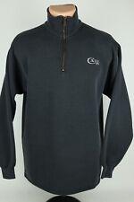 Vintage Case XX Knives Embroidered Mens Med Faded Black Quarter Zip Sweatshirt