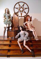 NEW SET 2 throne on platforms & window for Dolls FR 1/6 Barbie 12 in Diorama