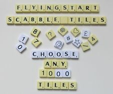 Pick and Mix Ivory Scrabble Tiles - Choose Your Own Letters Pack of 50