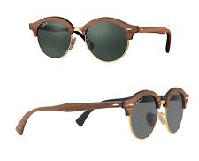 NEW Rayban sunglasses RB4246M 1181/58 Wood Round Clubmaster Polarized G15 Grey