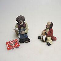 2 x Gilde Clown Trommler und Zirkusartist ca.7,5 und 6,5 cm Top Zustand