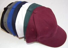 Lot of 7 New Plain Baseball Cap Blank Adjustable Free Shipping