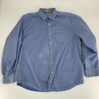 Tommy Bahama Jeans Mens Button Down Shirt Size XL blue Long Sleeve Casual Woven*