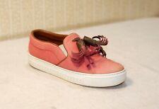 1000$ LOUIS VUITTON LV coral red denim chunky slip on tassel sneakers 40 us9 uk7
