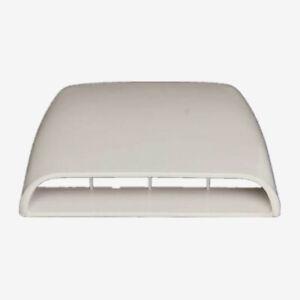 Car Air Flow Intake Scoop Turbo Bonnet Vent Cover Hood Decorative White Plastic