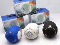 Golden Egg Mini Bass Portable Bluetooth Speaker, Wireless Built-In Subwoofer 10W