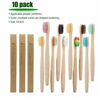 Bamboo Soft Toothbrush For Kids Dental Oral Care Tooth Brush Eco Friendly 10 Pcs