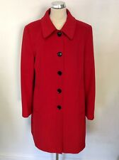 JAEGER RED WOOL BLEND KNEE LENGTH COAT SIZE 16