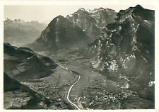 Nafels Glärnisch Alpes Alps Schweiz Switzerland Suisse Zeppelin Airship CARD 30s