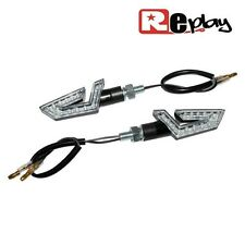 2 CLIGNOTANTS REPLAY DELTA UNIVERSEL TRANSPARENT/NOIR 14 LEDS MAXI SCOOTER