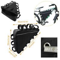 Mountain Bike Bag Battery Hanging Large Storage Triangle Tube Frame Pack Pouch