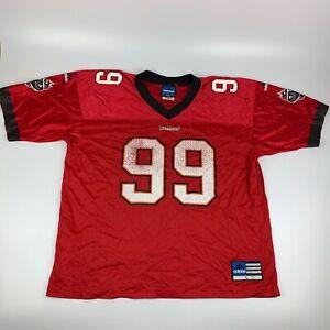Vintage Men's Large Tampa Bay Buccaneers Warren Sapp #99 NFL Adidas Jersey USA