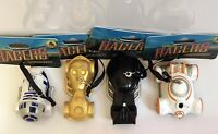 Star Wars Race Car Disney Racers Ornaments BB8 Darth Vader R2D2 C3PO Lot of 4