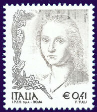 ITALIA 2004 VARIETA' Donna nell'arte GRIGIA nuova**