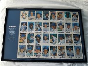 1969 World Series New York Mets Team Autographed Baseball Poster LE /260 COA HOF