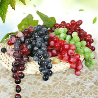 Artificial Fruit Grape Food Lifelike Fake Fruits Plant Home Room Party Decors