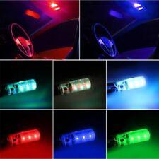 Multi Color Light T10 5050 W5W 6SMD RGB LED Car Wedge Bulbs Remote Control 2Pcs