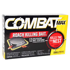 Combat MAX 6 Month 12 ROACH KILLING BAIT STATION Kills The Nest SMALL ROACHES