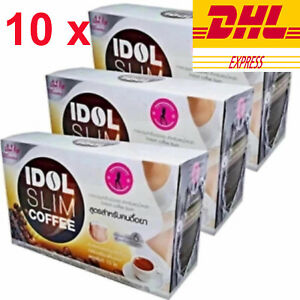 10 x  IDOL Slim Coffee Fast Power Drink Instant Diet Weight Loss Extract Natural