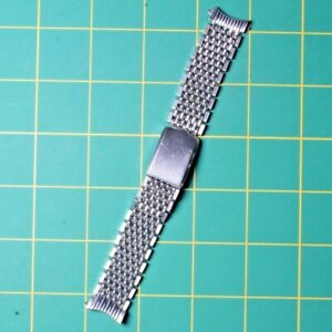 VINTAGE CITIZEN 18 MM BEADS OF RICE STAINLESS STEEL WATCH BRACELET / BAND