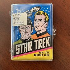 1976 Topps Star Trek Trading Cards Unopened Wax Pack in Plastic Casing SCARCE