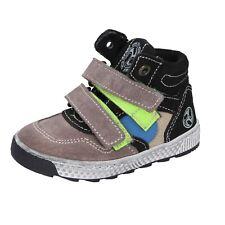 Jungen schuhe MKIDS 21 EU sneakers beige schwarz wildleder BR433-21