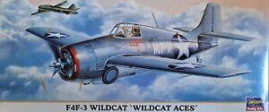 1/72 Hasegawa 00397 Grumman F4F-3 USN WW2 Fighter w/ Resin Wings + Wake Island!