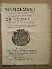 Mandement de son éminence Monseigneur LE CARDINAL DE NOAILLES : Miracle, 1725.