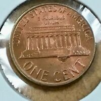 1974-D Lincoln Cent Reverse Retained Interior large Die Break under steps Error