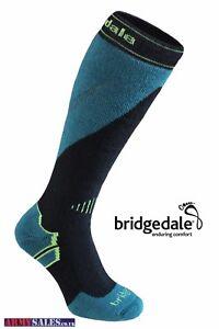 Bridgedale MerinoFusion Mountain Men's Ski Socks Black / Green