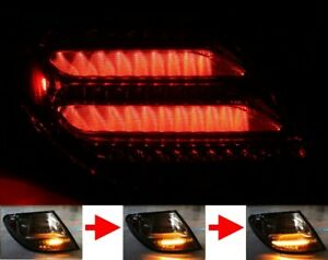 LED BAR Rear Lights Mercedes Benz W204 Saloon Red Black Seq LED Indicator