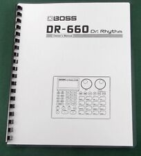 Boss DR-660 Instruction Manual: Comb Bound with Protective Covers!