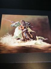 "Indian Warrior Large 16"" X 20"" Picture Print New In Lithograph"