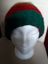 hand knitted unisex hat,large,multi-color,polyuester.