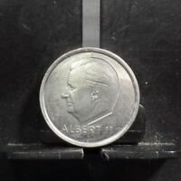 CIRCULATED 1996 1 FRANC BELGIUM COIN(10419)R1.....FREE DOMESTIC SHIPPING!!!!!