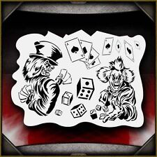 Clowns 2 Airbrush Stencil Template Paint Airsick